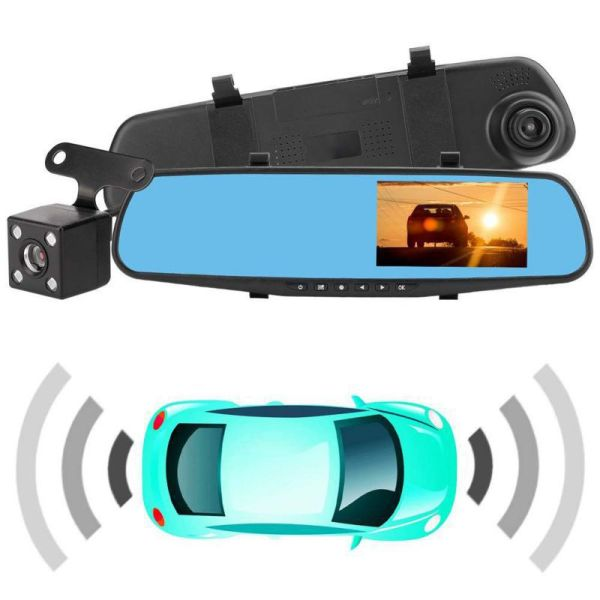 Dash Cam Car DVR Camera Recorder Auto Motion Detection Rearview Mirror Night Vision Drive Recorder night vision video