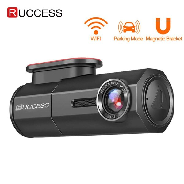 RUCCESS CAR DVR Full HD 1080P Dash Cam with WIFI Car Camera Recorder 24H Parking Monitor Night Vision English/Russia Version