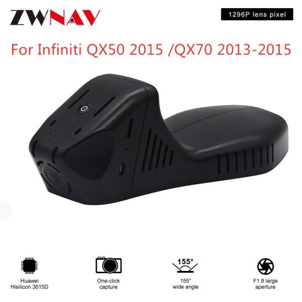Hidden Type HD Driving recorder dedicated For Infiniti QX50 2015 /QX70 2013-2015 DVR Dash cam Car front camera WIfi