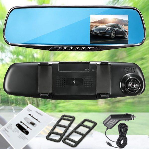"Do Promotion. HD 1080P 2.8"" LCD Camera Video Recorder Night Vision DVR Display Screen Rear View Mirror Dash Cam Camera"