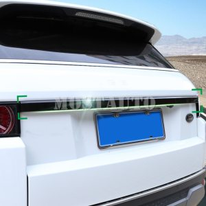 Rear Door Trunk Lid Cover Trim For Land Rover Range Rover Evoque 2012-2018 Black/Silver