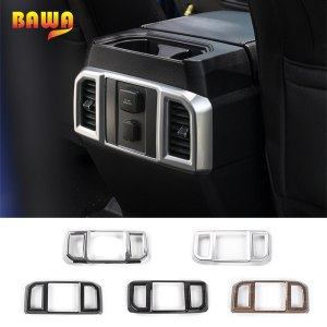 HANGUP 6 Color ABS Car Interior Armrest Box Rear Air Condition Vent Outlet Cover Decoration Stickers Fit For Ford F150 2015 Up