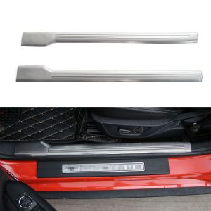 BBQ@FUKA Car-styling 2x Auto Steel Door Sill Scuff Guards Protectors Plate Car accessories Fit For Ford Mustang 2015 2016
