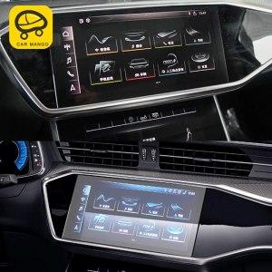 CarManGo For Audi A6 2019 Car Styling Dashboard Navigation Screen Protector Film Cover Trim Sticker Interior Accessories