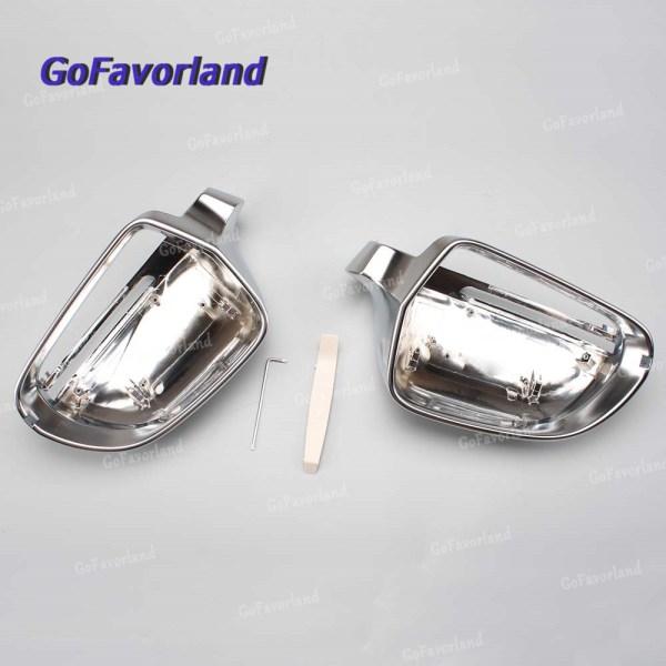 For Audi Q3 2012-2017 A3/S3/RS3 2009-2010 A4/S4/RS4 2009-2012 A6/S6/RS6 2009-2011 A5/S5 Pair Side Rearview Mirror Cover Trim