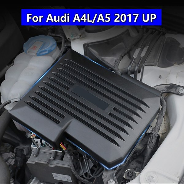 For Audi A4L A5 2017 2018 2019 ECU Electronic Control Unit Protection Cap Engine Computer Board Dustproof Cover Car PC Trim