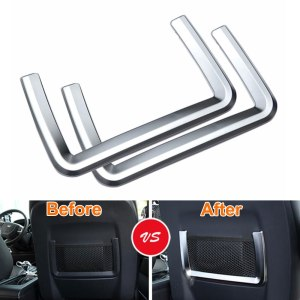 2PCS/PAIR Interior Front Seat Back Rear Storage Net Cover Trim Strip Decoration For 2015 Discovery Sport Car Styling Covers