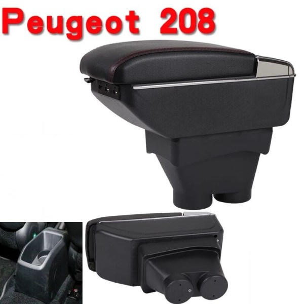 CITYCARAUTO Stowing Tidying INTERIOR CENTROL ARMREST BOX STORAGE FIT FOR PEUGEOT 208 CAR INTERIOR ARMREST BOXES