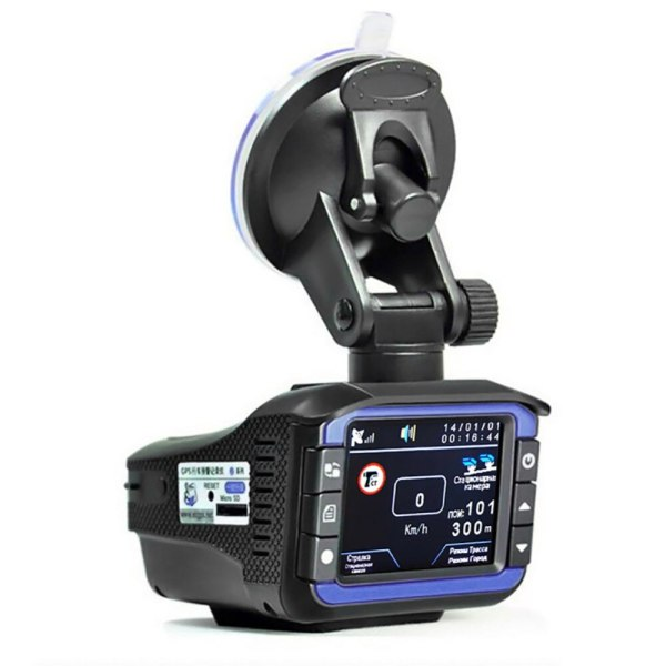 Car Radar Detectors DVR Recorder Russian Dedicated Voice Broadcast GPS Camera Dash Cam Fixed / Flow Velocity Measurement DVR