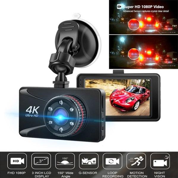 Car DVR Camesh Cam 3'' 4K 1080P Full HD Dash Camera 150 Degree Dash Cam Voiture Cars Night Vision G-Sensor Car Camera Recorder