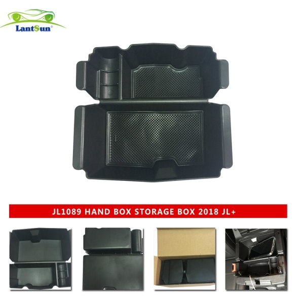 Security Console Insert armrest storage box for 18-19 Jeep Wrangler JL