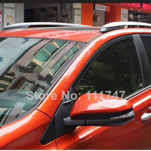 Car Styling! Silver Top Roof Rack Side Rails Bars Luggage Carrier For Toyota RAV4 2013 2014 2015 2016