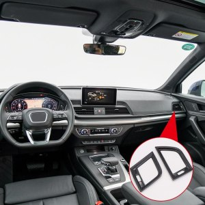 For Left Hand Drive Only! For Audi Q5 2018 ABS Plastic Interior Side Air Vent Outlet Cover Trim 2pcs Car Styling