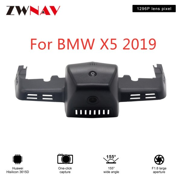 Hidden Type HD Driving recorder dedicated For BMW X5 2019 H DVR Dash cam Car front camera WIfi