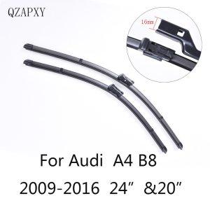 """Wiper Blades for Audi A4 B8 24""""&20""""2009 2010 2011 2012 2013 2014-2016 Car Accessories Soft Rubber Car Windshield Wiper blades"""