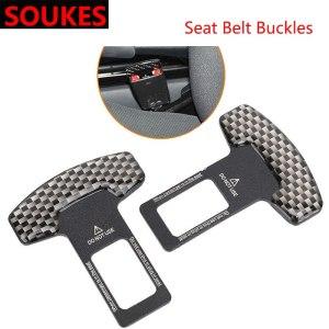 1Pcs For Audi A3 A4 B8 A6 Q5 C7 8v B5 Mercedes Benz W203 W204 W205 W124 W212 AMG Car Carbon Crash Seat Safety Belt Accessories