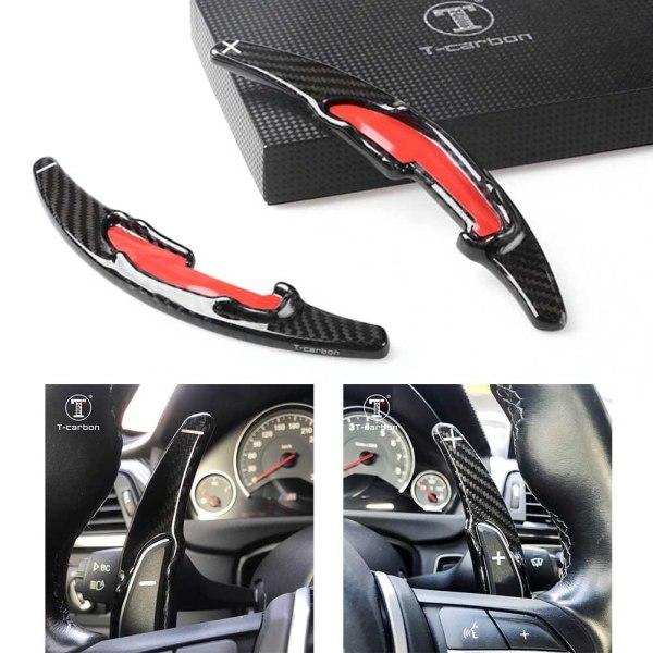 Carbon Steering Wheel Paddle Shift Extension Trim For BMW M2 M3 M4 M5 M6 X5M X6M