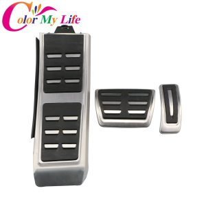 Color My Life Automatic Car Pedal Pedals for Audi A4 B8 S4 RS4 A5 S5 RS5 8T A6 4G S6 (C7) Q5 S5 RS5 A7 S7 SQ5 8R LHD 2009 - 2015