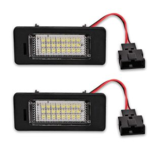 2pcs White Car LED Number License Plate Lights lamp 12V for Audi A4 B8 A5 Q5 S5 TT S4 Error Free Led License Plate Lights