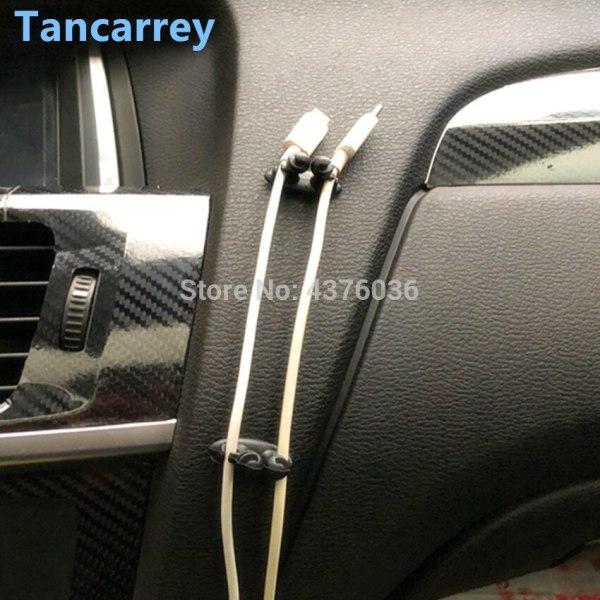 Car Charger Line Clasp Clamp Automobile Interior for hyundai i30 audi a4 b8 passat b6 megane 2 kia ceed citroen c4 for toyota