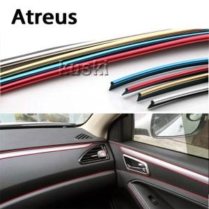 Atreus 3m Car Interior Body Decoration Strip Automobiles Stickers For BMW e46 e39 e60 e90 e36 Mini cooper Audi a4 b6 a3 a6 c5 b8