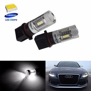 ANGRONG 2x P13W Bulb SAMSUNG 15W LED Fog Daytime Running Light For Skoda Yeti 5L 508 For Audi A4 B8(CA219x2)