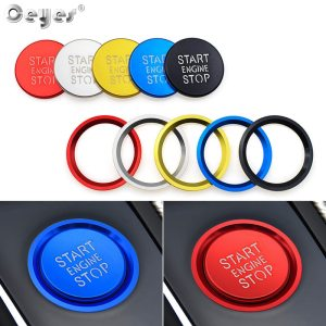 Ceyes Car Styling Interior Accessories Auto Engine Start Stop Button Rings Case For Audi B8 A6L A4 A5 A6 A7 Q3 Q7 Q5 8R C7 Cover