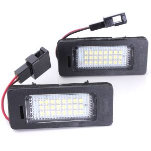 2X Error Free Car LED Number License Plate Lights for Audi A4 B8 A5 Q5 S5 TT S4 A1 A6 S6 A7 S7 VW Golf MK6 Jetta Passat Touran