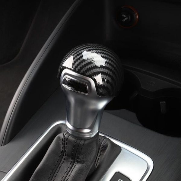 Carbon Fiber Color Gearshift Handle Frame Cover Sticker For Audi A3 8V S3 A4 B8 A5 A6 C7 S6 A7 S7 Q5 Gear Shift Knob Head Decal