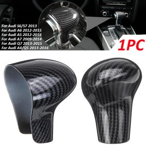 LHD Car ABS Carbon Fiber Speed Gear Shift Knob Cover Cap Sticker Trim For Audi A3 8V S3 A4 B8 A5 A6 C7 S6 A7 S7 A8 Q5 2009 -2016