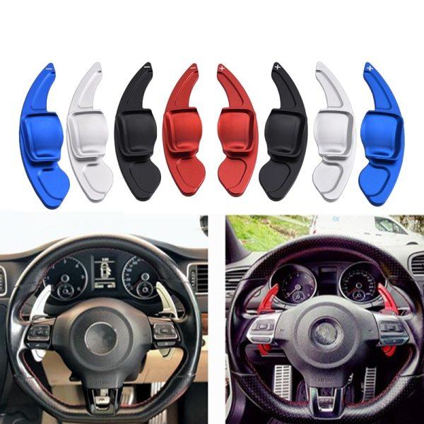 SPEEDWOW Car Steering Wheel Paddle Extend DSG Direct Shift Gear Paddle Extension For VW Tiguan Golf 6 MK5 MK6 Jetta GTI R20 R36
