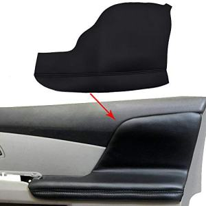 2pcs Door Armrest Replacement Cover Leather Fit For Honda Odyssey 2011-2017 (Black)