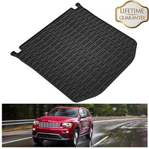 KIWI MASTER Rear Cargo Mat Liner Compatible for 2011-2020 Jeep Grand Cherokee All Weather Protection Floor Slush Trunk Mats,1 Pcs,Black