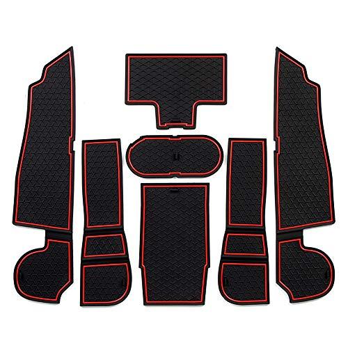 ontto Gate Slot Mats Cups Pads for Mercedes Benz A200 A220 A250 Anti-dust Interior Door Mat Pad Automotive Decoration 7pcs/Set Red