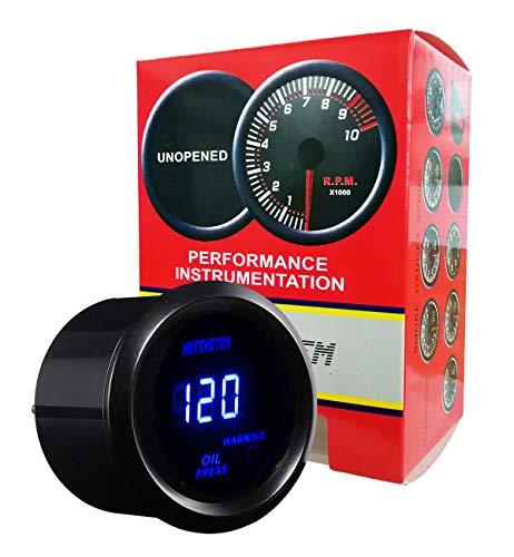 HOTSYSTEM Electronic Universal OIL Pressure Press Gauge Meter 52mm 0-120 PSI for Car Vehicle Automotive (oil pressure gauge, black)
