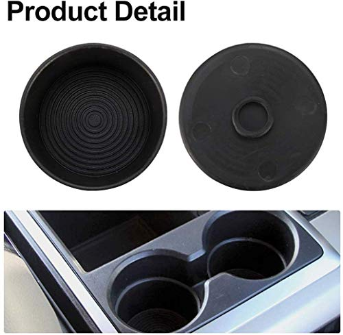 Cup Holder Insert Compatible for 2009-2016 Dodge Ram 1500 2500 3500 Package deal Included: