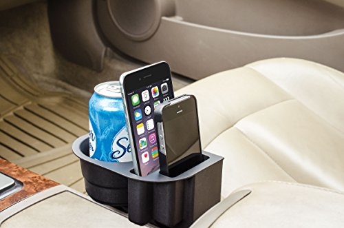 Black Mobile Device Organizer with Cup Holder Custom Accessories Black Mobile Device Organizer with Cup Holder