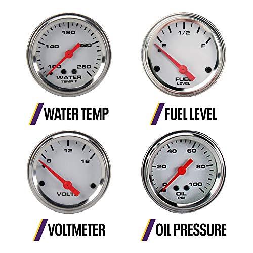 6-Gauge Set, White Face, 3-3/8, Mechanical 6-Gauge Set, White Face, 3-3/8, Mechanical