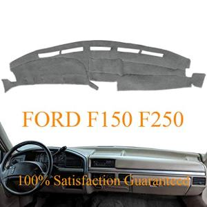 Dashboard Cover Dash Cover Mat Fit for Ford F150 F250 F350 1992 1993 1994 1995 1996 (Gray) Y73