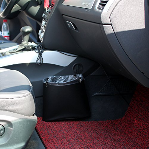 Timorn Car Trash Can, Car Garbage Can PU Leather Patent design auto trash bag!