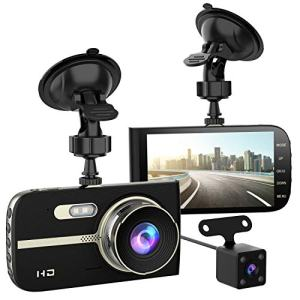 """Full HD 1080P Dash Cam Front and Rear 290 Degree Super Wide Angle Car Camera Recorder 4.0"""" Screen Dash Camera for Cars with G-Sensor Motion Detection Parking Mode etc"""