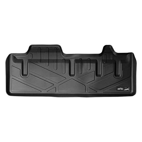 MAXLINER All Weather Cargo Liner Floor Mat Behind 3rd Row Black for 2011-2018 Toyota Sienna with Power Folding 3rd Row Seats