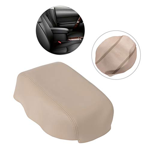 OCPTY Armrest Center Console Lid Skin Cover Leather for 2007 2008 2009 2010 2011 Toyota Camry(Beige)