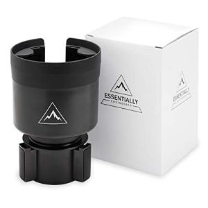Essentially Engineered Car Cup Holder Expander Adapter with Adjustable Base for Yeti Ramblers, Thermo, Hydro Flask - Hold Large Bottles, Cups and Mugs 32-40 oz