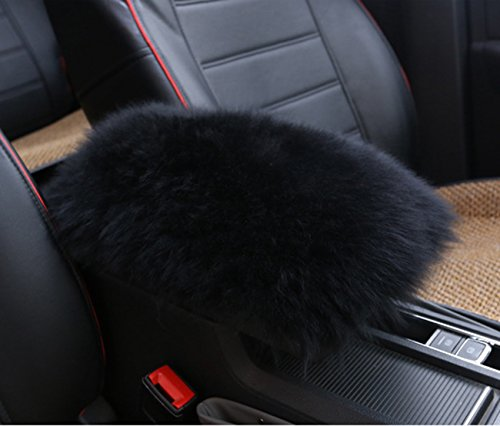 Forala Auto Center Console Pad, Furry Sheepskin Wool Car Armrest Seat Box Cover Protector Universal Fit