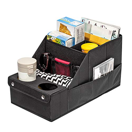 JustRoomy Car Organizer Collapsible Seat Storage Pockets for Trunk SUV Minivan Accessories Storage Organizer Box Black