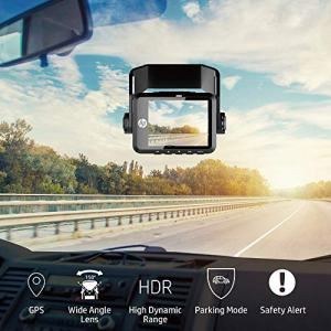 HP Dual Dash Cam for Front and Rear Recorder with Night Vision, 1080P Full HD, Mini Size Neglected in Your Sight, Wide Angle Lens with HDR, G-Sensor, Loop and Emergency Recording