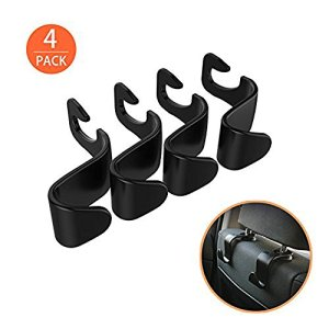 EldHus AB Ofspower 4-Pack Car Vehicle Back Seat Headrest Hook Hanger Storage for Purse Groceries Bag Handbag, 4 Pack