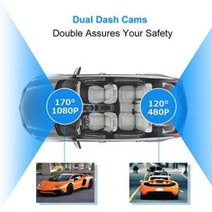 "Dash Camera for Cars,hyleton 1080P HD Dual Dash Cam Front and Rear,4"" IPS Screen Dashboard Camera Recorder,170°Wide Angle, G-Sensor,WDR, Night Vision,Loop Recording, Parking Monitor, Motion Detection"