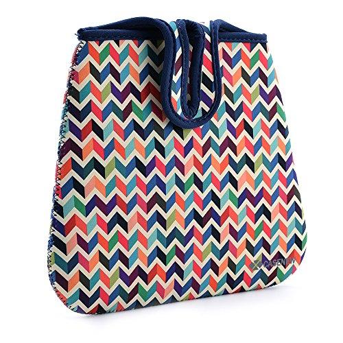 Lightweight Neoprene Auto Trash Bag Sleeve Pouch Case New Lightweight Neoprene Auto Trash Bag Sleeve Pouch/Litter Bag/Car Trash Keeper/Garbage Holder/Trash Liner Bag Case& Auto Organizer Storage Bag, Stick Shift Car Garbage Bin- Wave